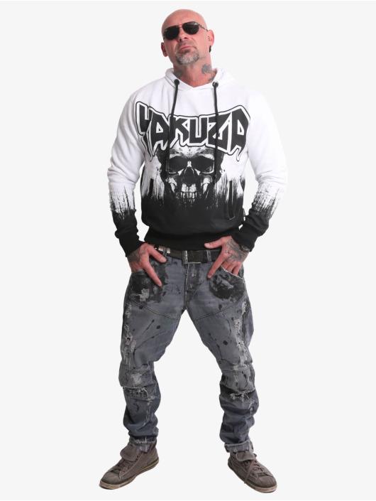Yakuza Hettegensre Splatter Skull hvit