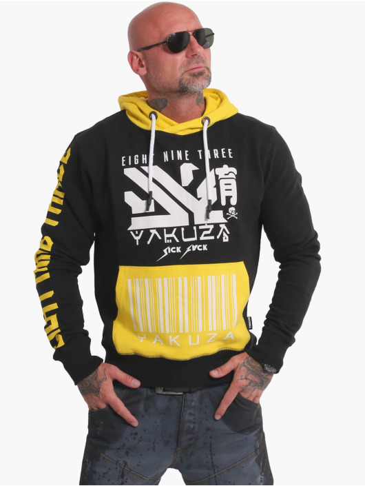 Yakuza Hoodie Nippon893 Two Face black