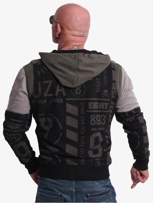 Yakuza Hoodie Allover Pattern Tri Fac black