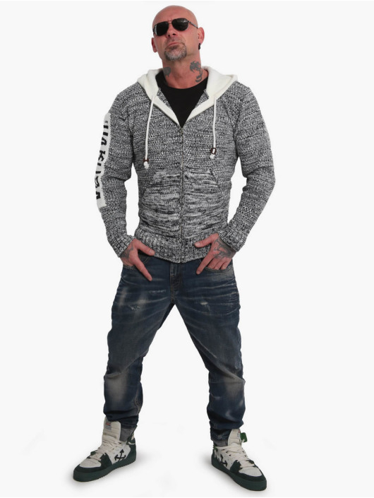 Yakuza Hoodie Spoosh Knit grå