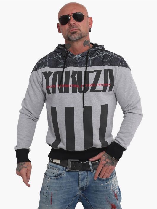 Yakuza Hoodie Barbwire grey