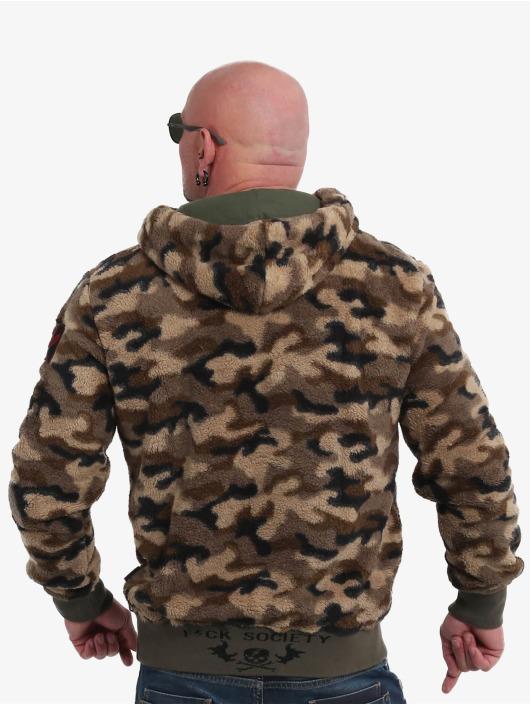 Yakuza Hoodie Red Flag Sherpa kamouflage
