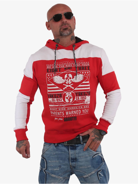 Yakuza Hoodie Warning Two Face red