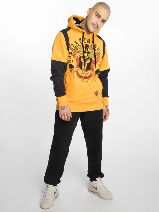 Yakuza Hoodie Mexica Two Face yellow