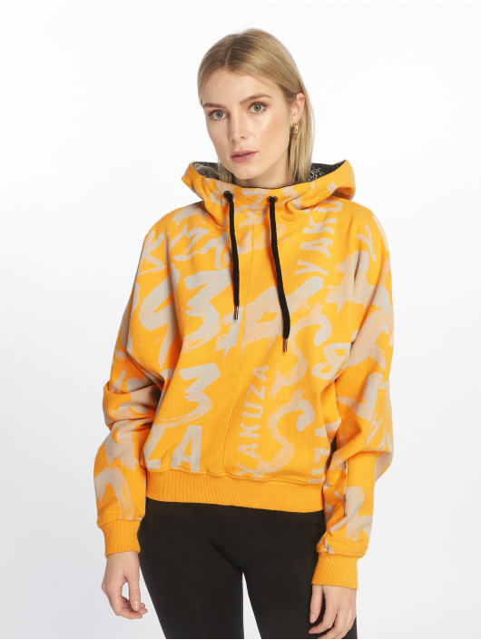 Yakuza Hoodie Allover Funnel yellow