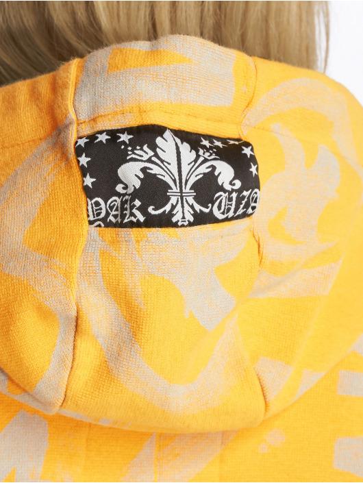 Yakuza Hoodie Allover Funnel yellow