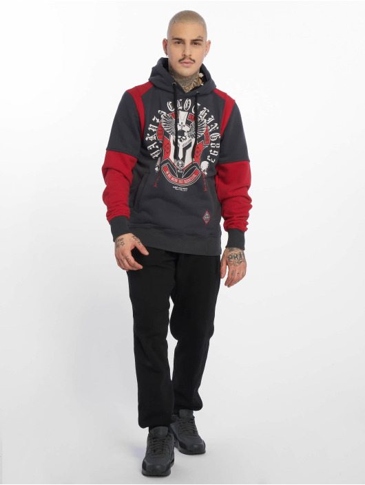Yakuza Hoodies Mexica Two Face čern