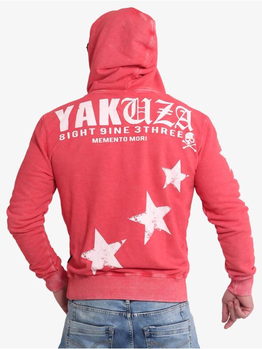 Yakuza Hoodies Overskulled Acid červený