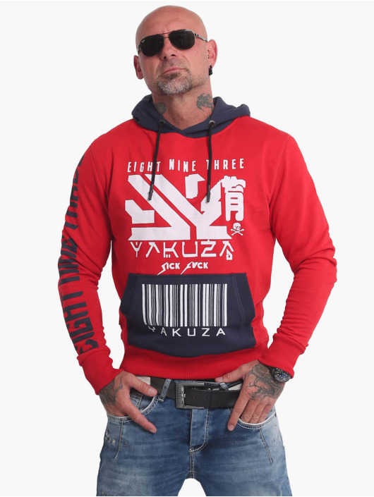 Yakuza Hoodies Nippon893 Two Face červený