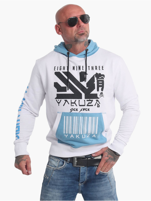 Yakuza Hoodies Nippon893 Two Face bílý