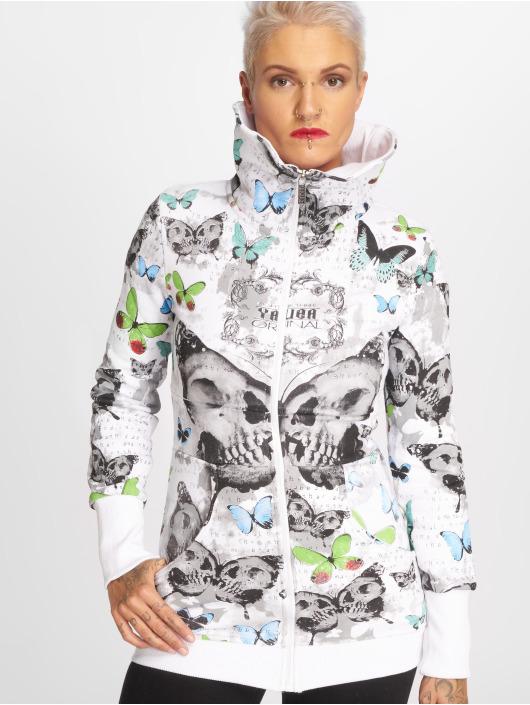 Yakuza Hoodies con zip Butterfly bianco