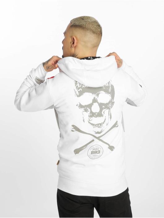 Yakuza Hoodies con zip Bastard Two Face bianco