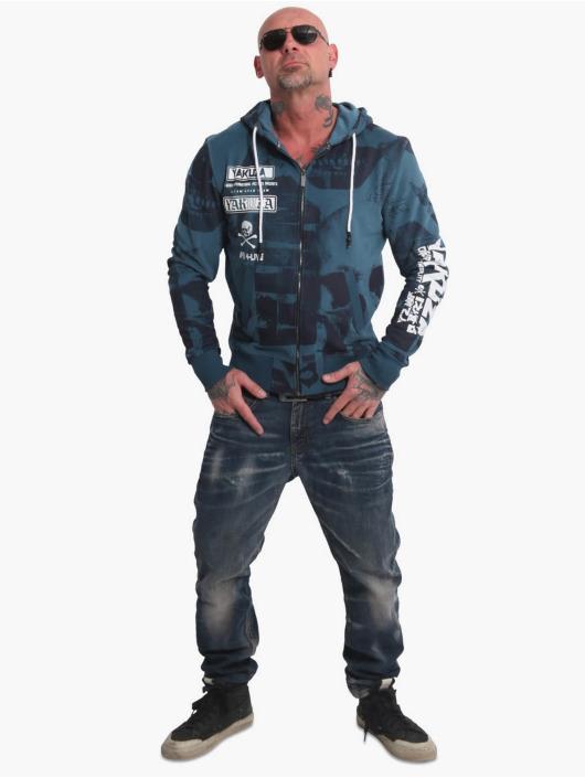 Yakuza Hoodies con zip Psycho Clown blu