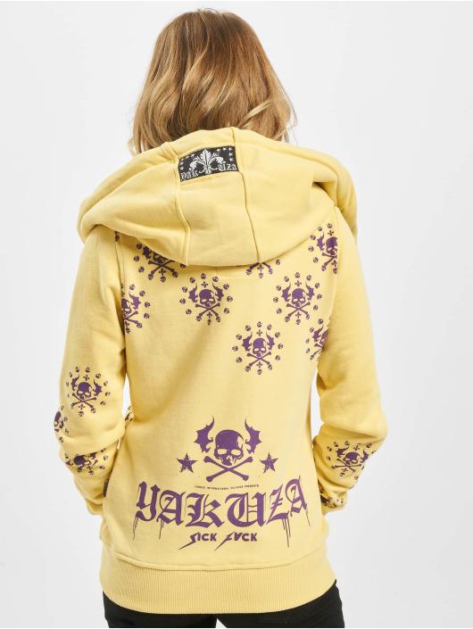 Yakuza Hoodies con zip Dot Crosswise giallo