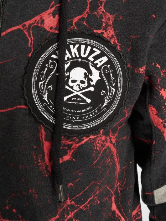 Yakuza Hoodies con zip Marble nero