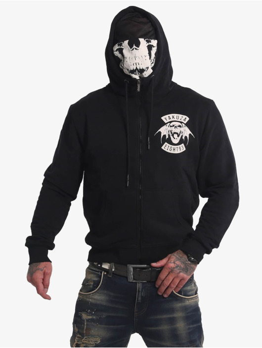 Yakuza Hoodies con zip 893MC Ninja nero