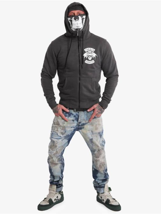 Yakuza Hoodies con zip 893mc Ninja nero
