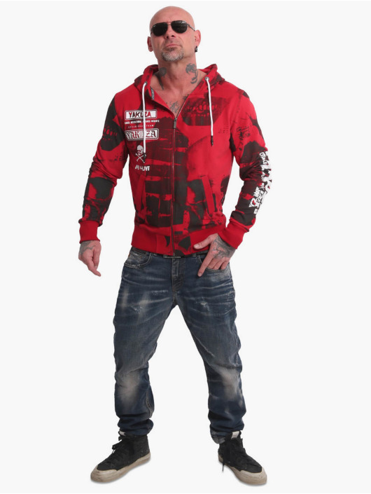 Yakuza Hoodies con zip Psycho Clown rosso