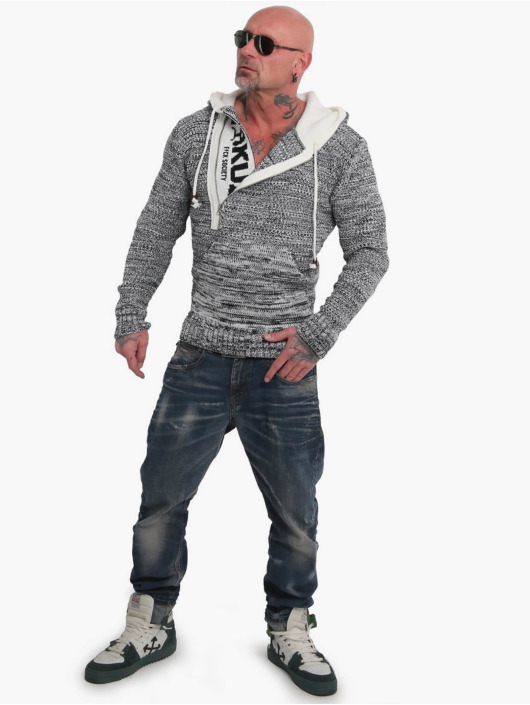 Yakuza Hoodies Geep Knit grå
