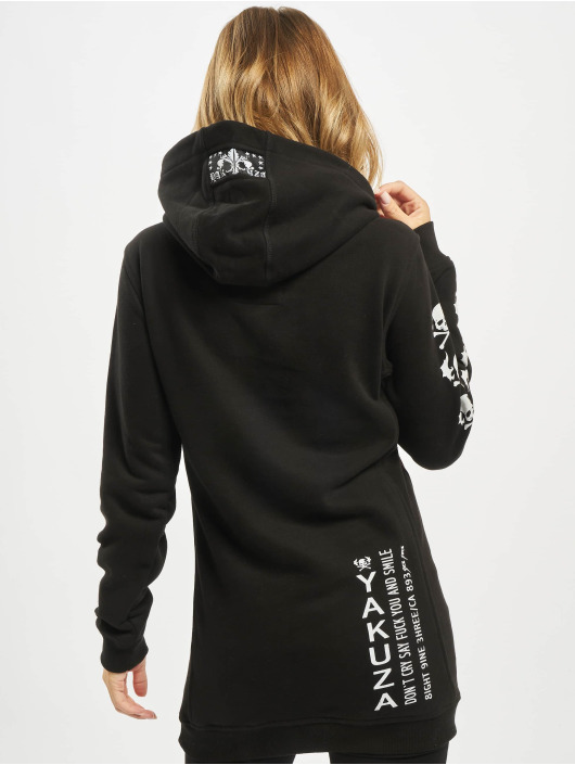 Yakuza Hoodies Flying Skull Flex Long sort
