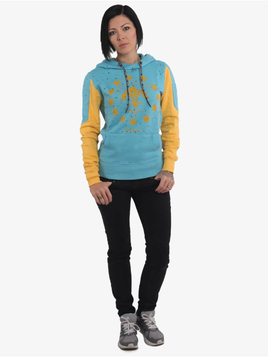 Yakuza Hoody Dot Lily Two Face blau