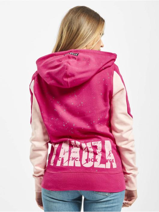 Yakuza Hoody Dot Lily Two Face pink