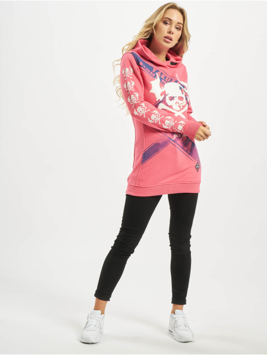 Yakuza Hoody Flying Skull Flex Long pink