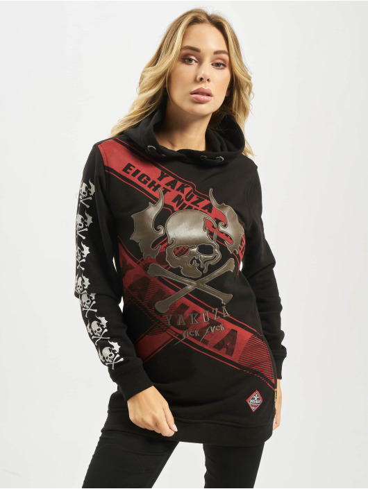 Yakuza Hoody Flying Skull Flex Long schwarz