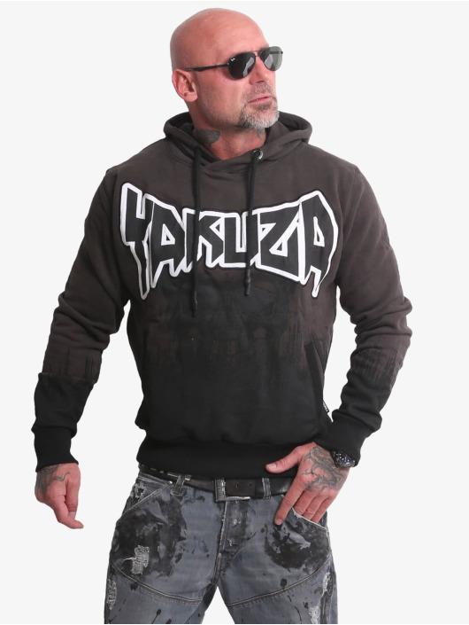 Yakuza Hoody Splatter Skull schwarz