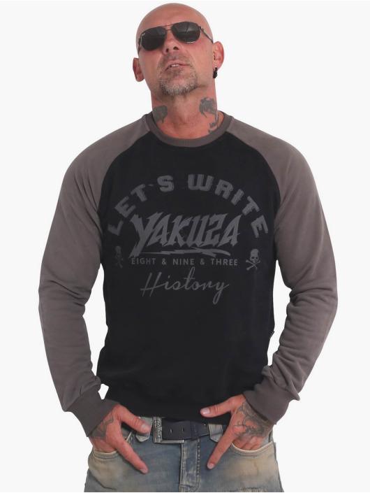 Yakuza Jersey History Raglan negro