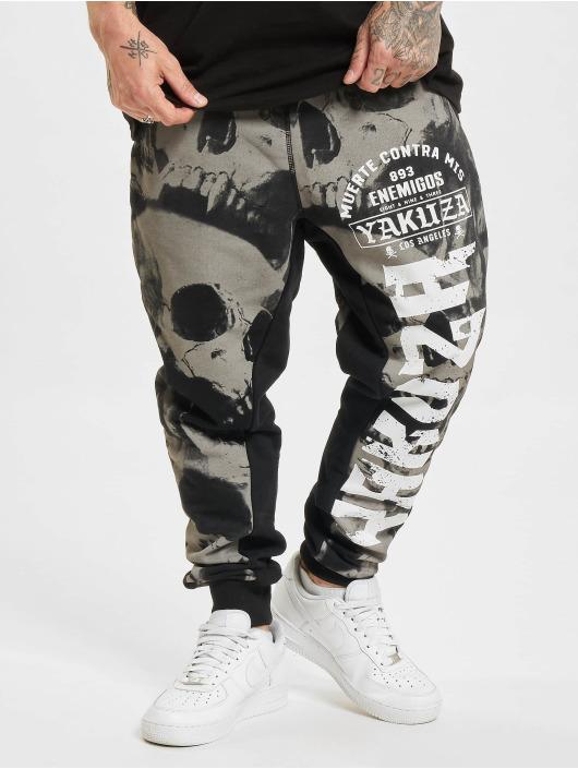 Yakuza Jogging kalhoty Skull V02 čern