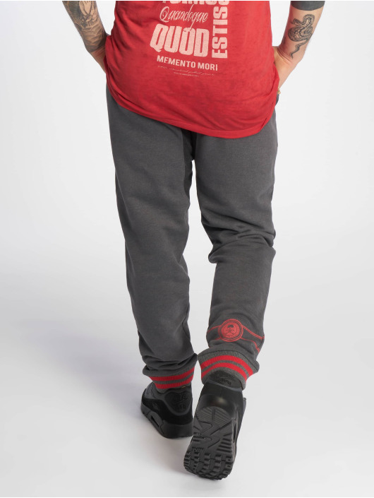 Yakuza Jogging kalhoty Badge šedá