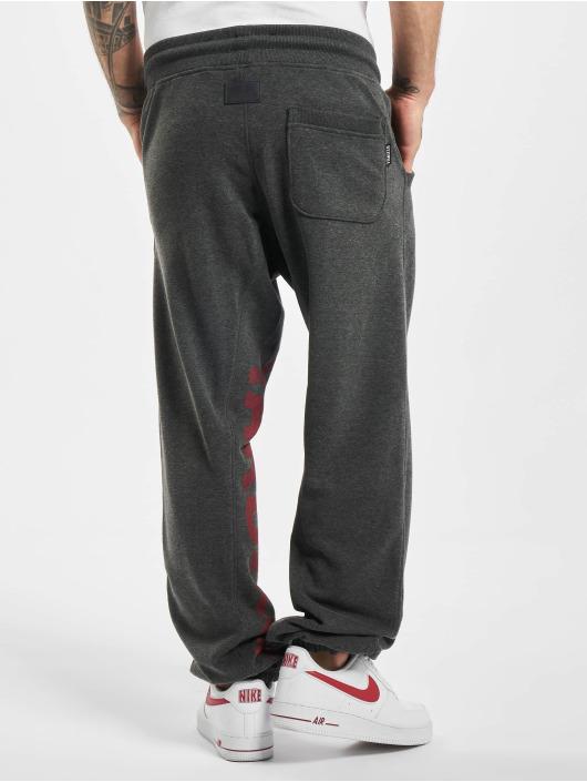 Yakuza Jogging kalhoty Splash Skull Loose šedá