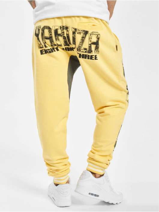 Yakuza joggingbroek Badge geel