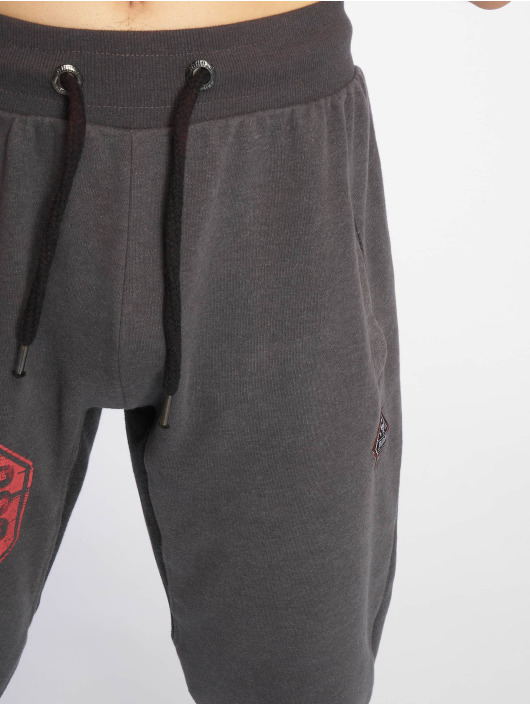 Yakuza joggingbroek Badge grijs