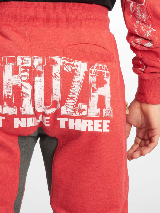 Yakuza Joggingbyxor Badge Sweat röd