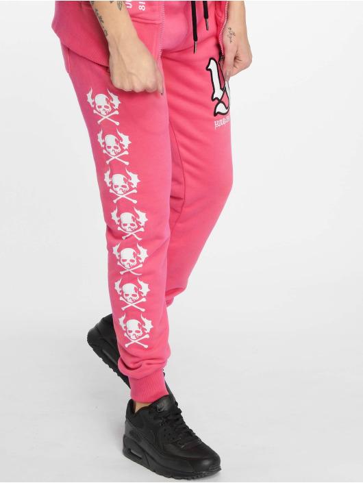 Yakuza Jogginghose Lil Flying Skull rosa