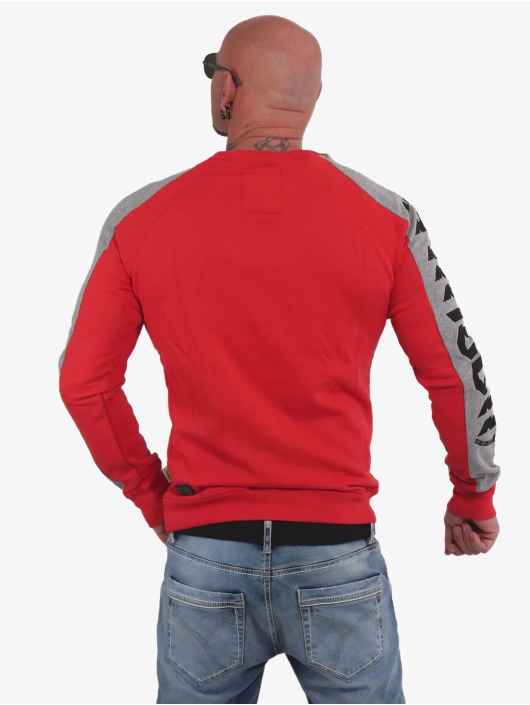Yakuza Jumper 893 Two Face Raglan Pouch red