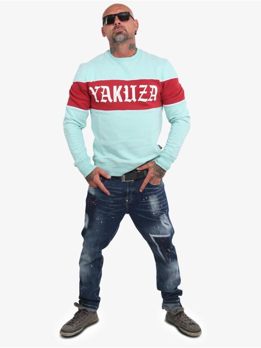 Yakuza Jumper Retro Stripe turquoise