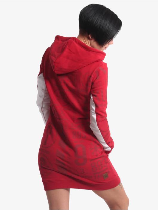 Yakuza jurk Allover Pattern Two Face rood
