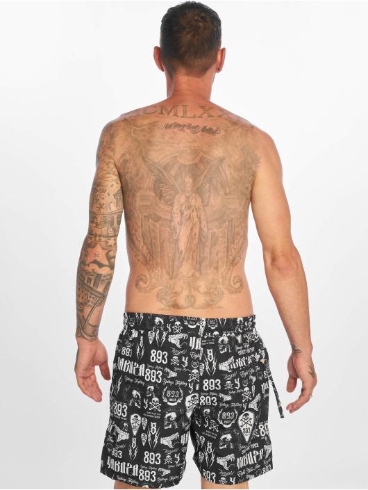 Yakuza Kúpacie šortky Allover Carry èierna