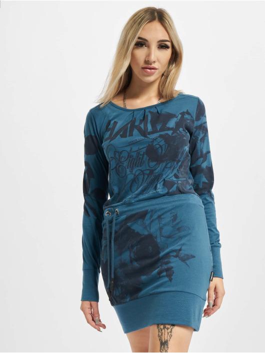 Yakuza Kleid Florid blau