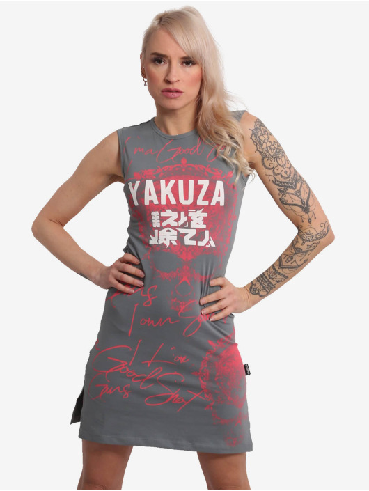 Yakuza Kleid Good Shoot Slash Mini grau