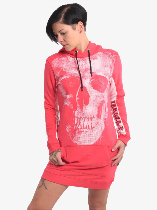 Yakuza Kleid Skull Two Face pink
