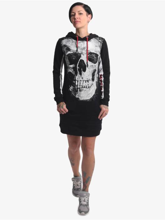 Yakuza Kleid Skull Two Face schwarz