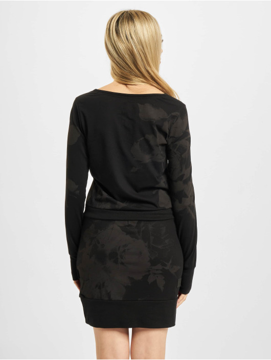 Yakuza Kleid Florid schwarz