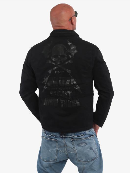 Yakuza Kurtki przejściowe Skull N Wings Military czarny