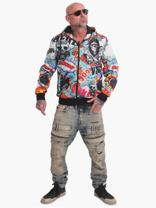 Yakuza Kurtki przejściowe 80s kolorowy