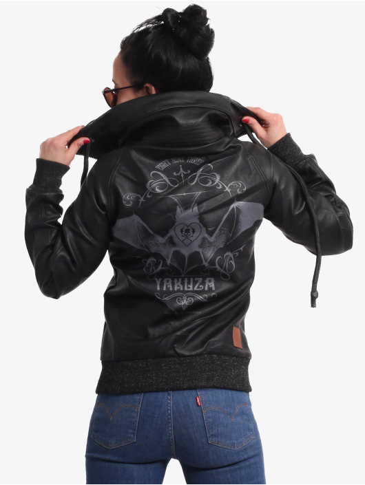 Yakuza Lederjacke Bat Pu Leather schwarz