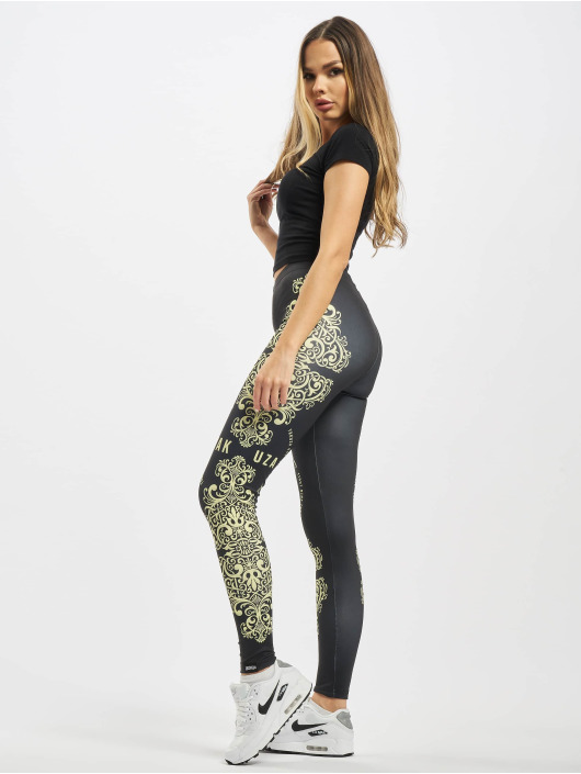 Yakuza Leggings/Treggings Ornamentic black